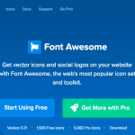 font awesome トップ